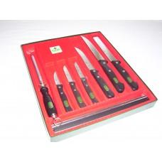 Pfiffikus Knife Set with Steel and Rack