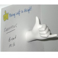 Hand Magnet Ridgey Didge White