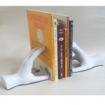 Hands Book Ends Artist White