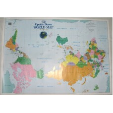 Upside Down World Map, Folded