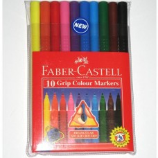 Faber-Castell Grip Colour Markers (Pack 10)