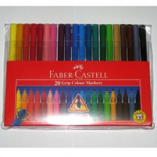 Faber-Castell Grip Colour Markers (Pack 20)